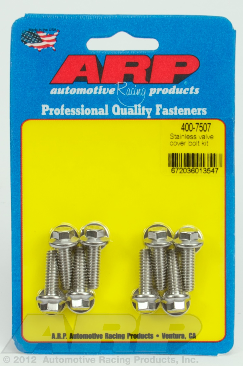 400-7507 - ARP - SS valve cover bolt kit - Polished - Stainless Steel