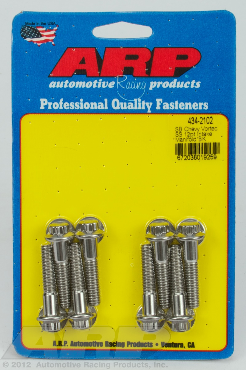 434-2102 - ARP - SB Chevy Vortec SS 12pt intake manifold bolt kit - Polished - Stainless Steel